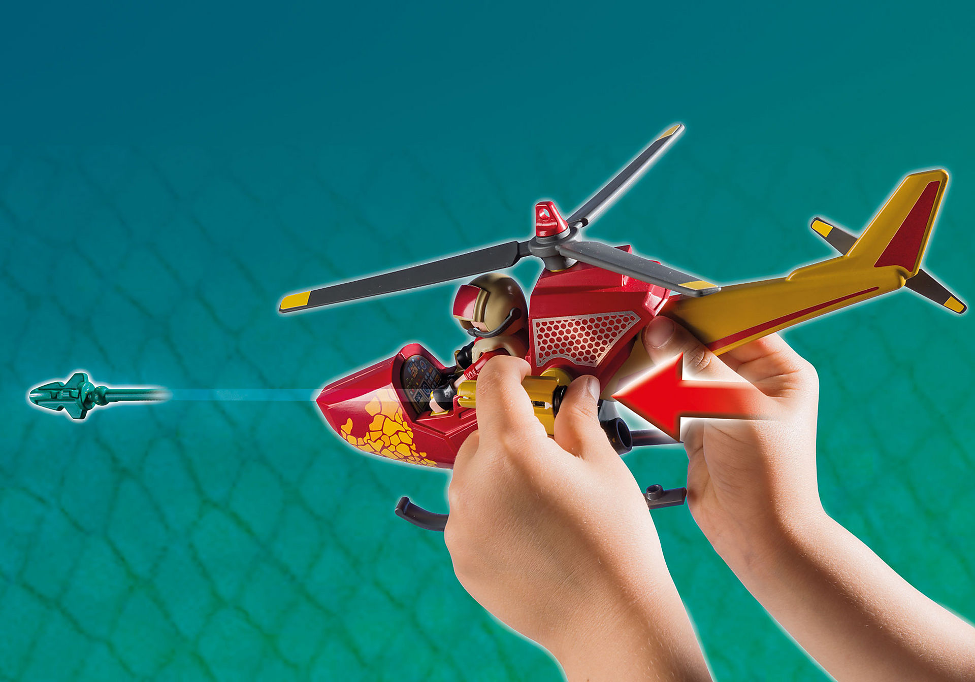 9430 Helikopter met Pteranodon zoom image6