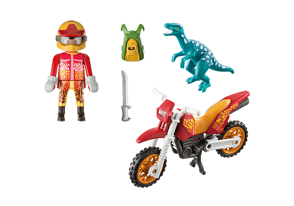 9431 Εξερευνητής με Motocross και μικρό δεινόσαυρο detail image 4
