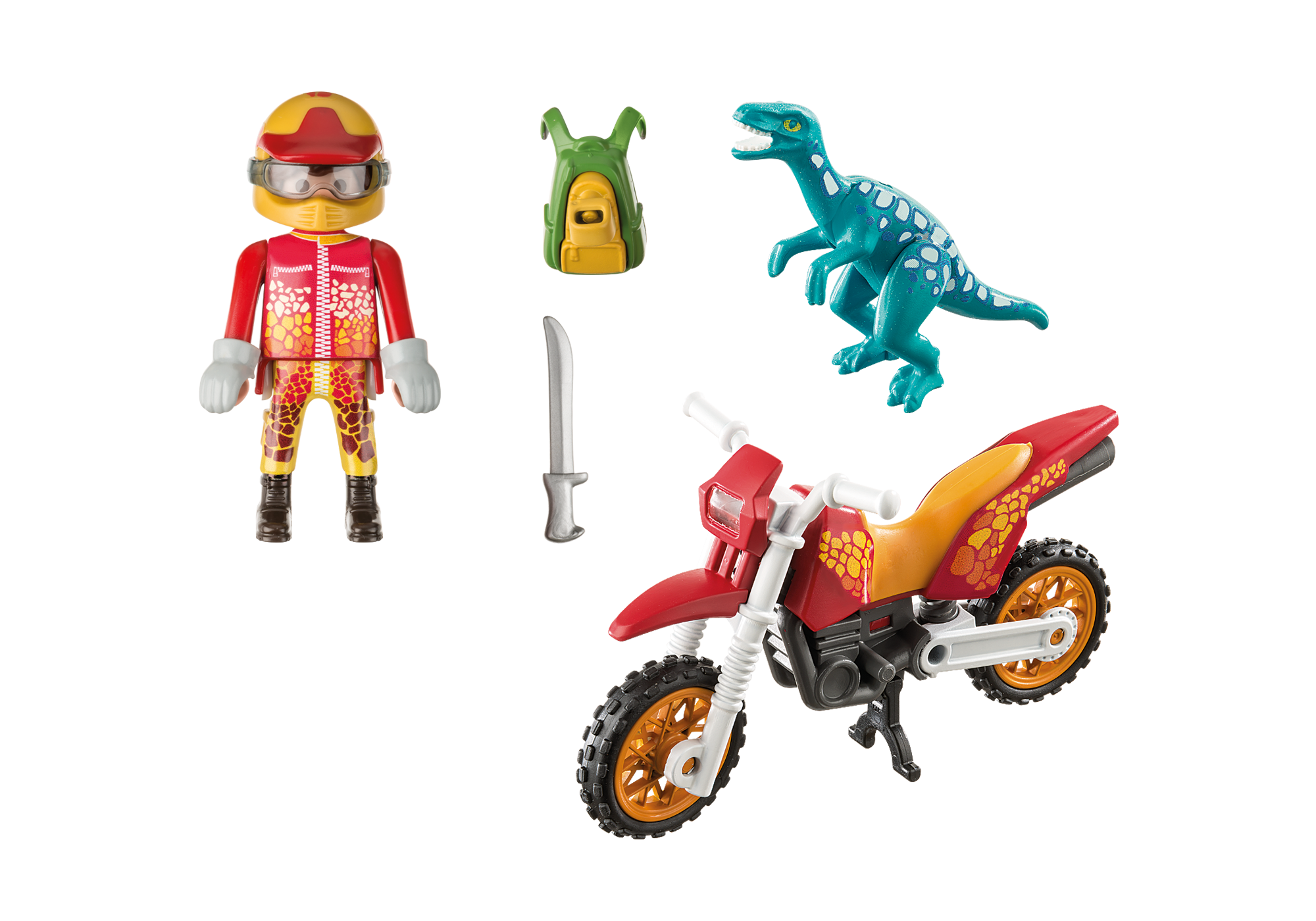 http://media.playmobil.com/i/playmobil/9431_product_box_back/Εξερευνητής με Motocross και μικρό δεινόσαυρο