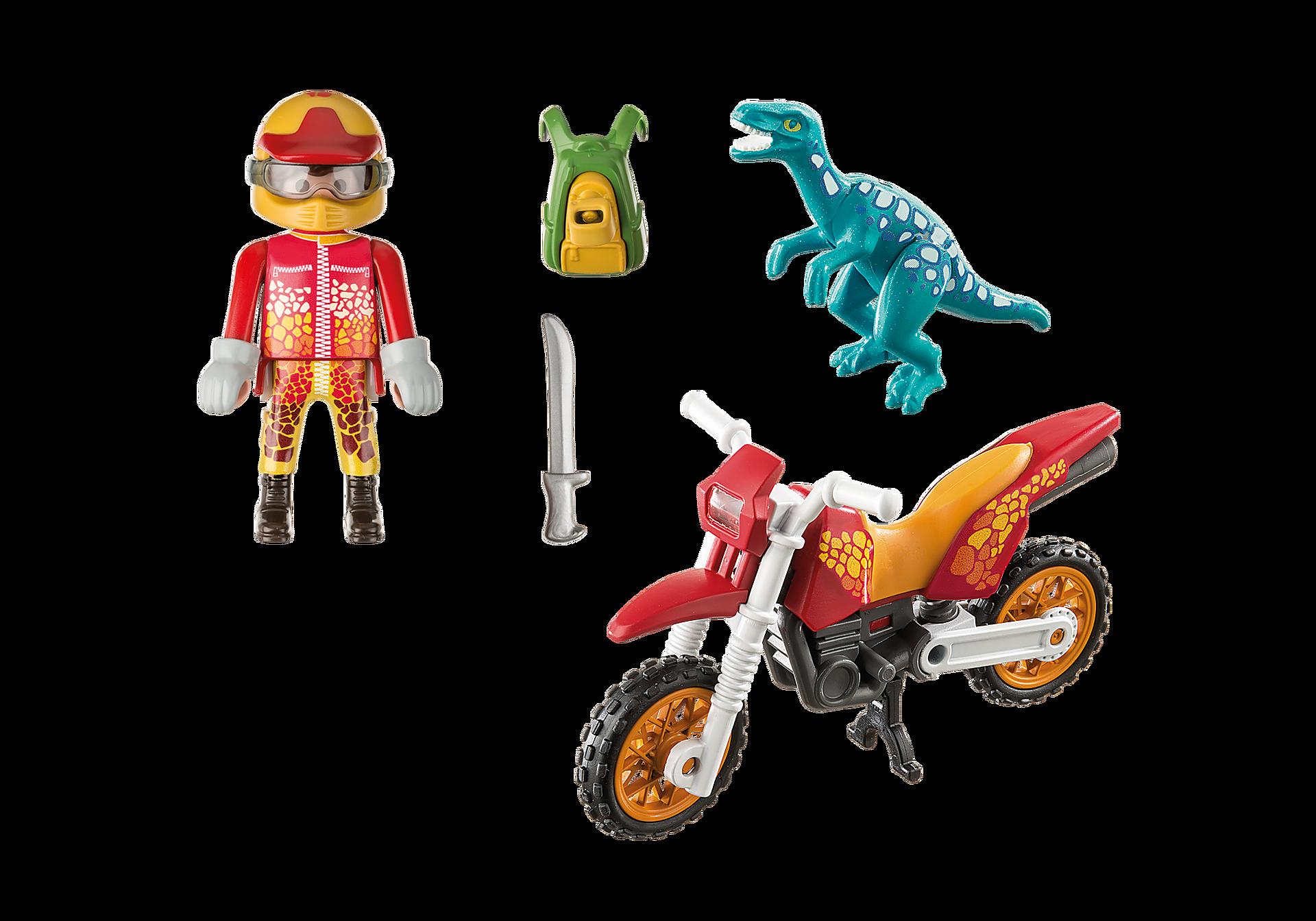 9431 Pilote de moto et raptor zoom image4