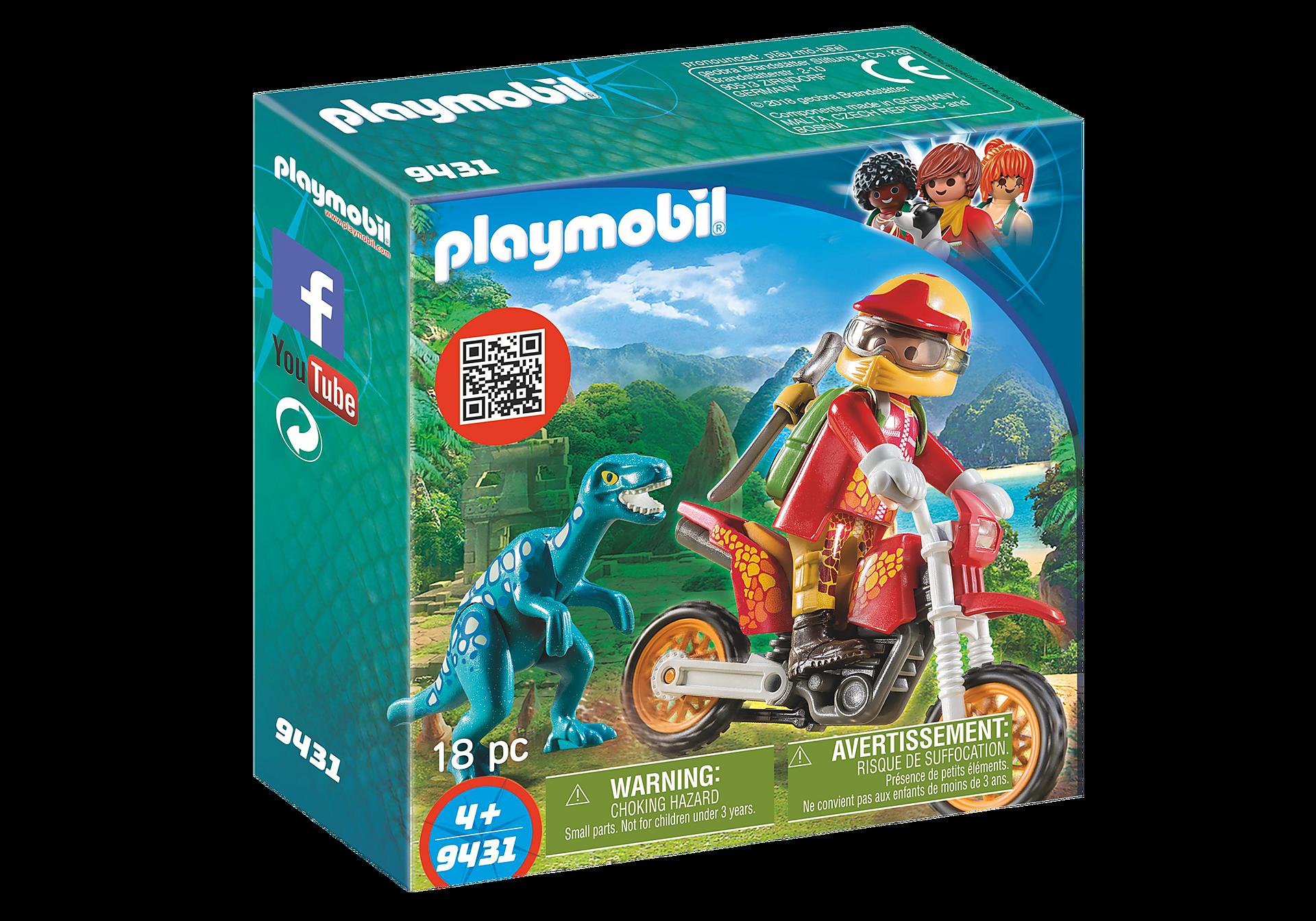 9431 Εξερευνητής με Motocross και μικρό δεινόσαυρο zoom image3