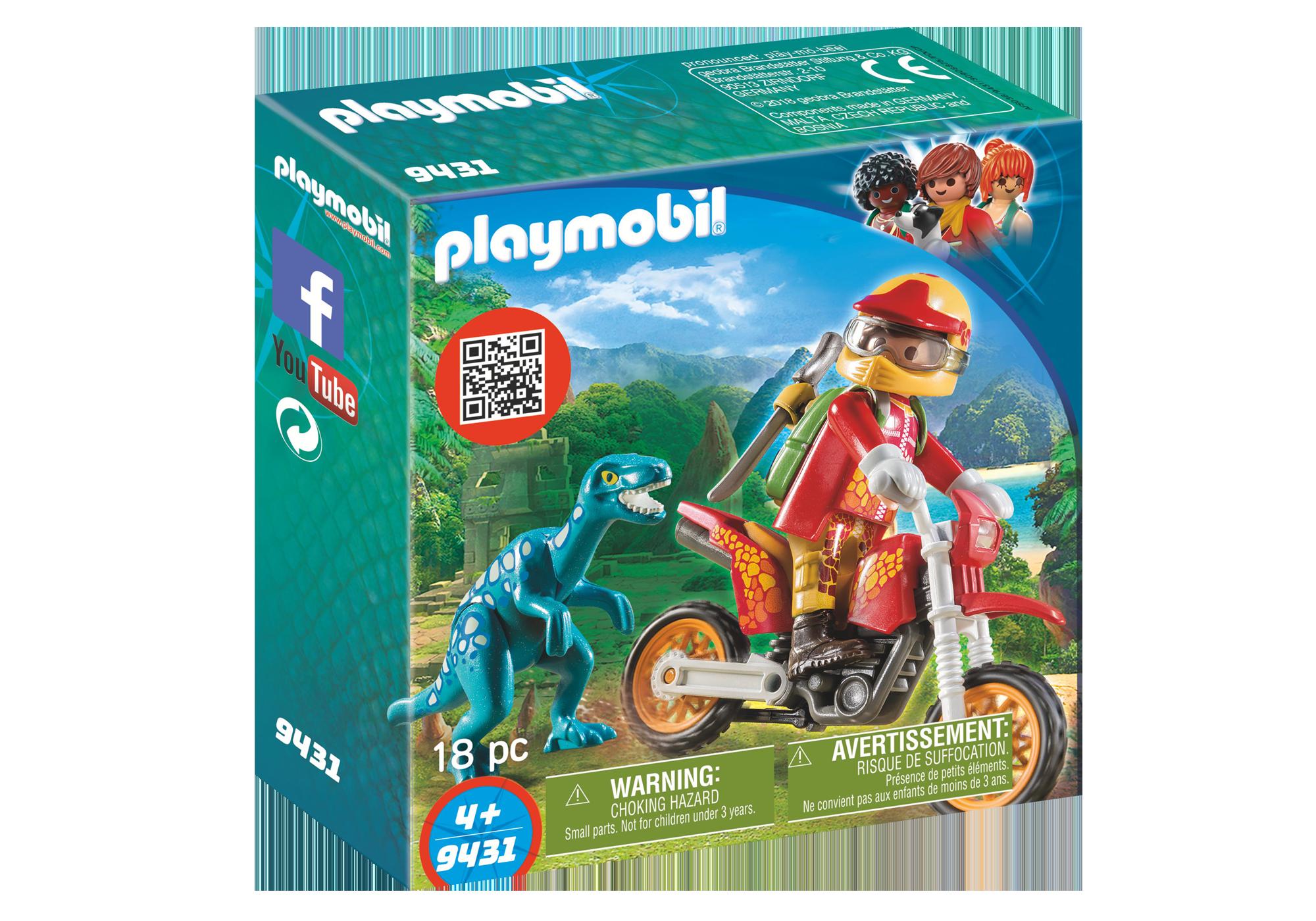 http://media.playmobil.com/i/playmobil/9431_product_box_front/Εξερευνητής με Motocross και μικρό δεινόσαυρο