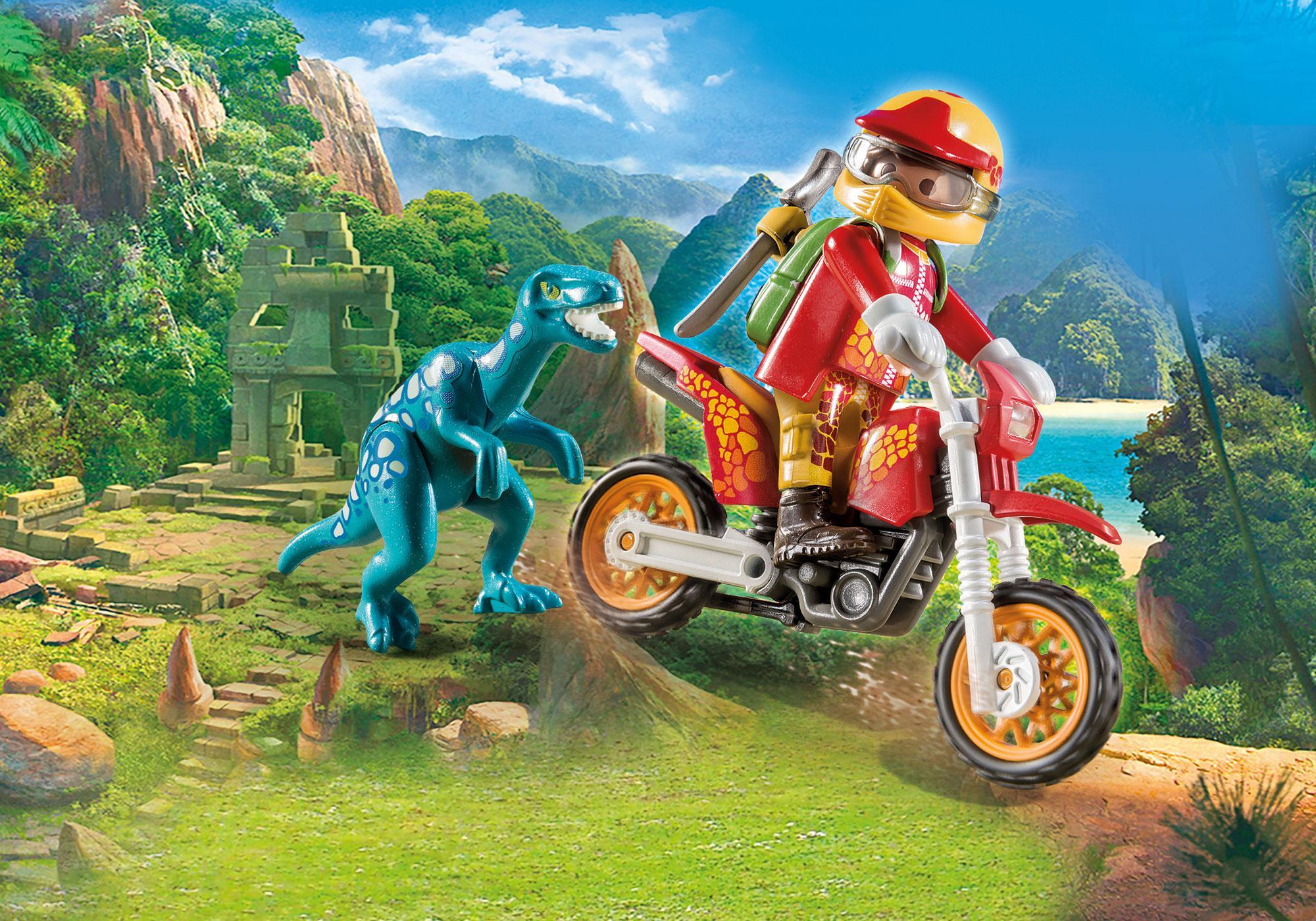 http://media.playmobil.com/i/playmobil/9431_product_detail/Εξερευνητής με Motocross και μικρό δεινόσαυρο