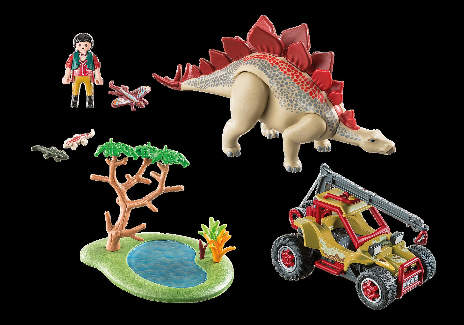 9432 Veicolo degli esploratori e Stegosauro zoom image4
