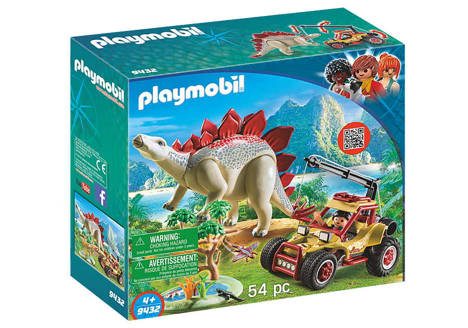 9432 Forschermobil mit Stegosaurus detail image 3