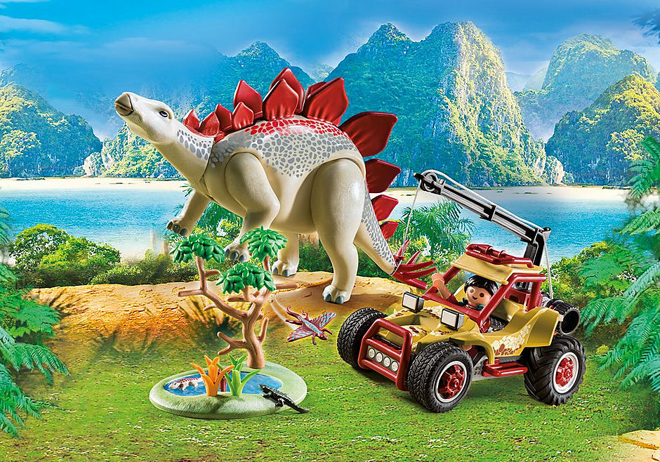 9432 Forschermobil mit Stegosaurus detail image 1