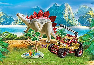 9432 Vehículo Explorador con Estegosaurio