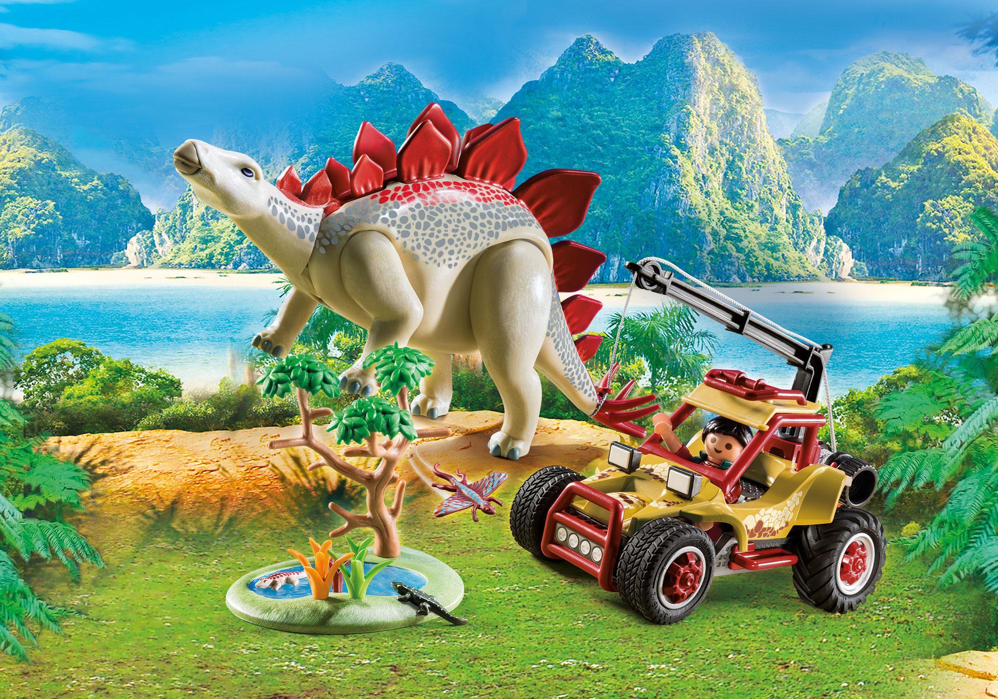 http://media.playmobil.com/i/playmobil/9432_product_detail/Vehículo Explorador con Estegosaurio