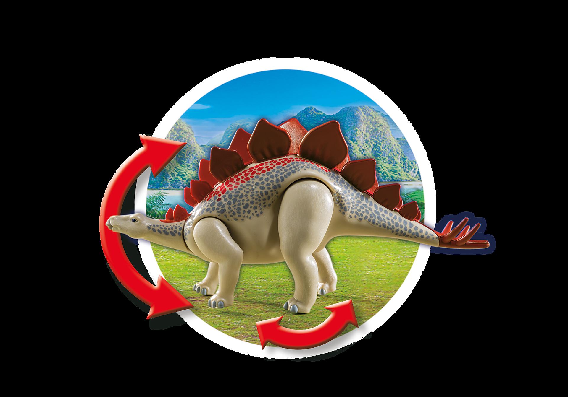 9432 Veicolo degli esploratori e Stegosauro zoom image6