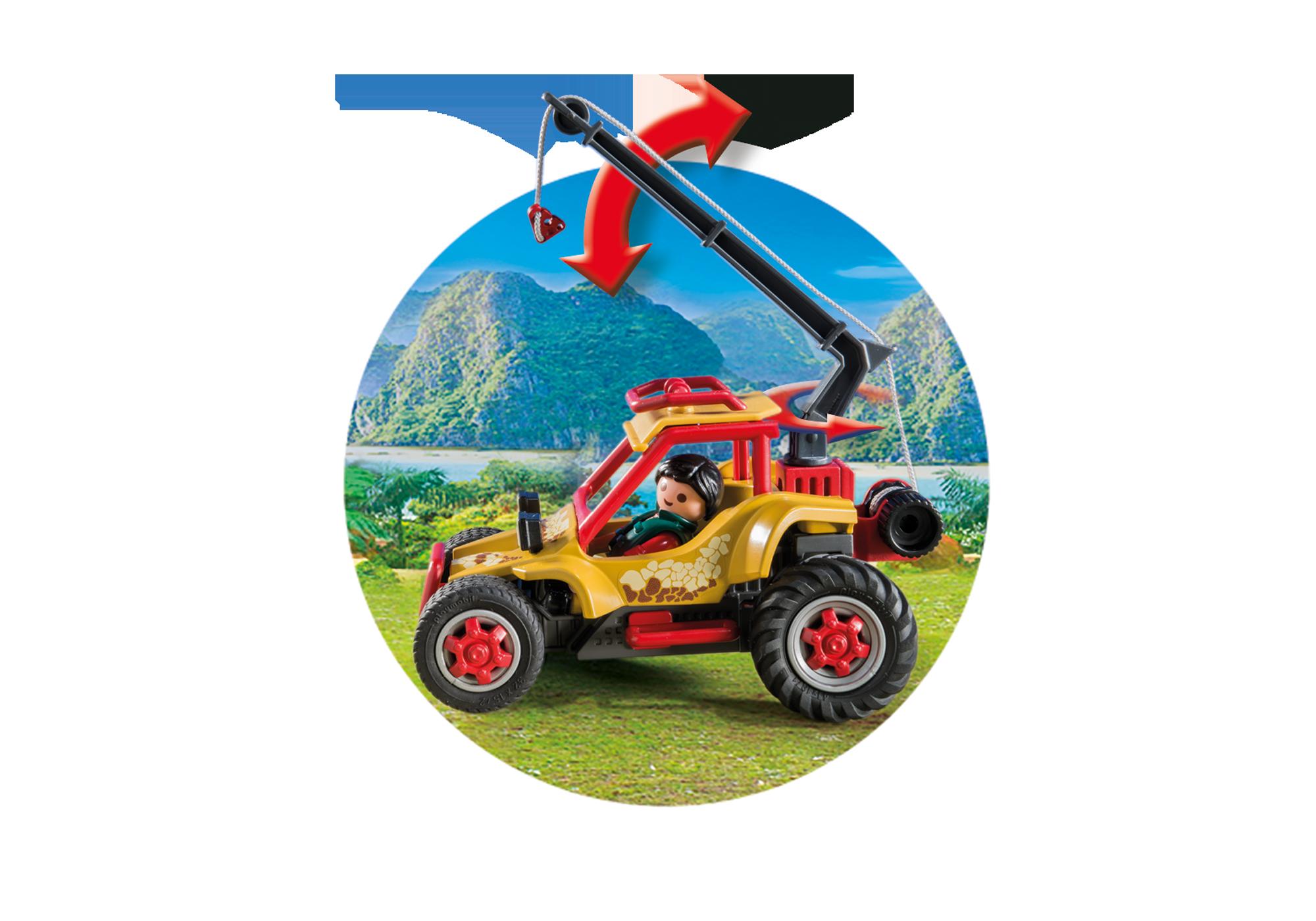 http://media.playmobil.com/i/playmobil/9432_product_extra3/Vehículo Explorador con Estegosaurio