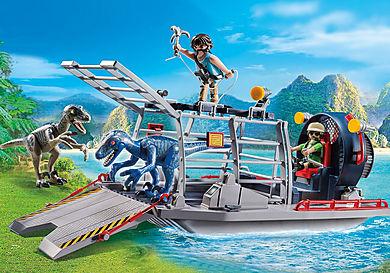 9433 Barca con gabbia per dinosauri