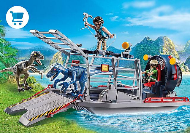 9433_product_detail/Luchtkussenboot met dinokooi