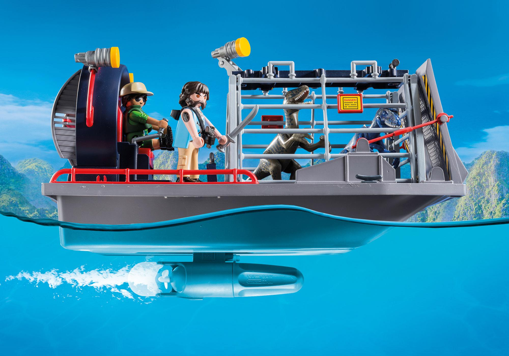 http://media.playmobil.com/i/playmobil/9433_product_extra1/Propellerbåt med dinosauriebur