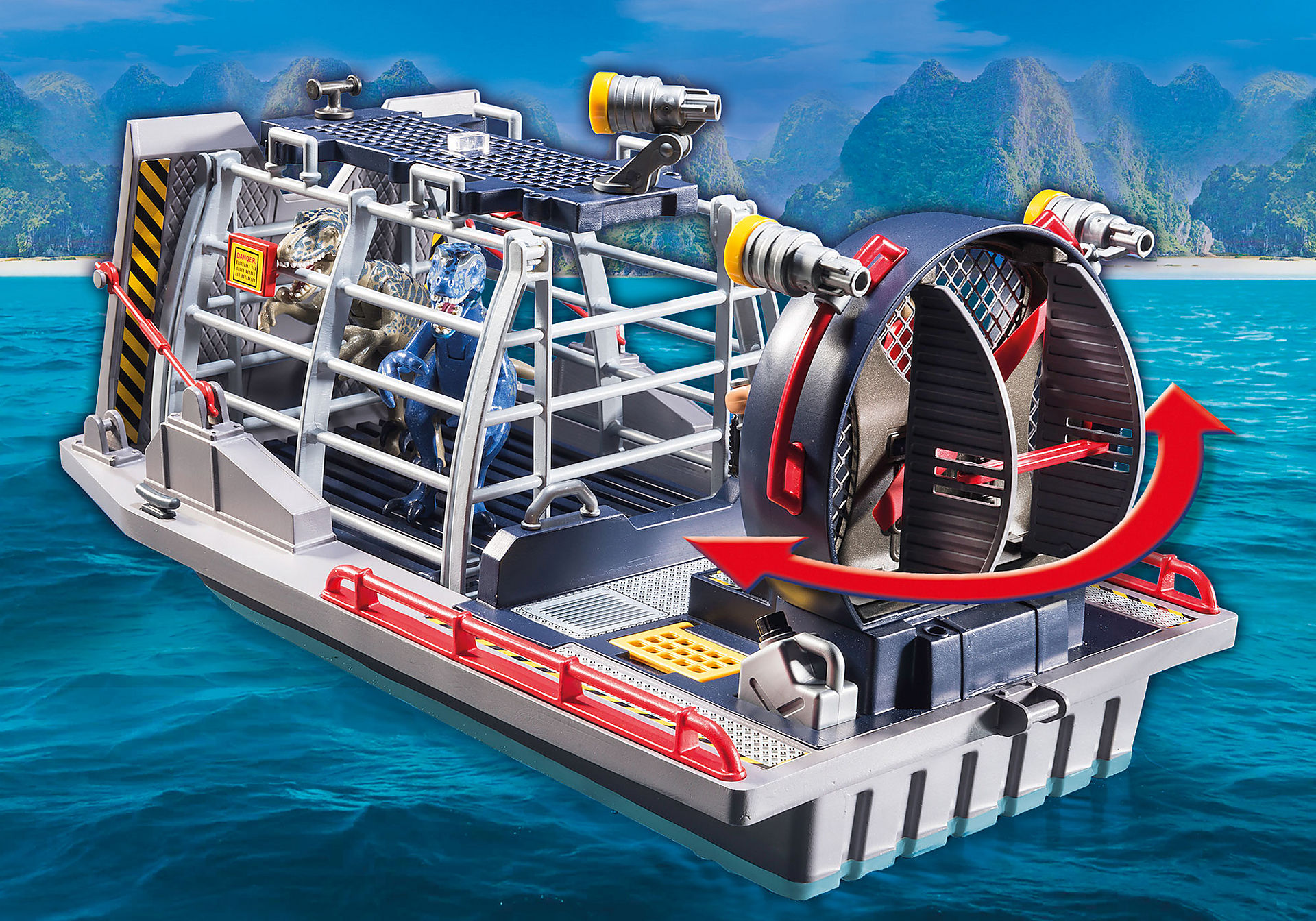 9433 Barca con gabbia per dinosauri zoom image6