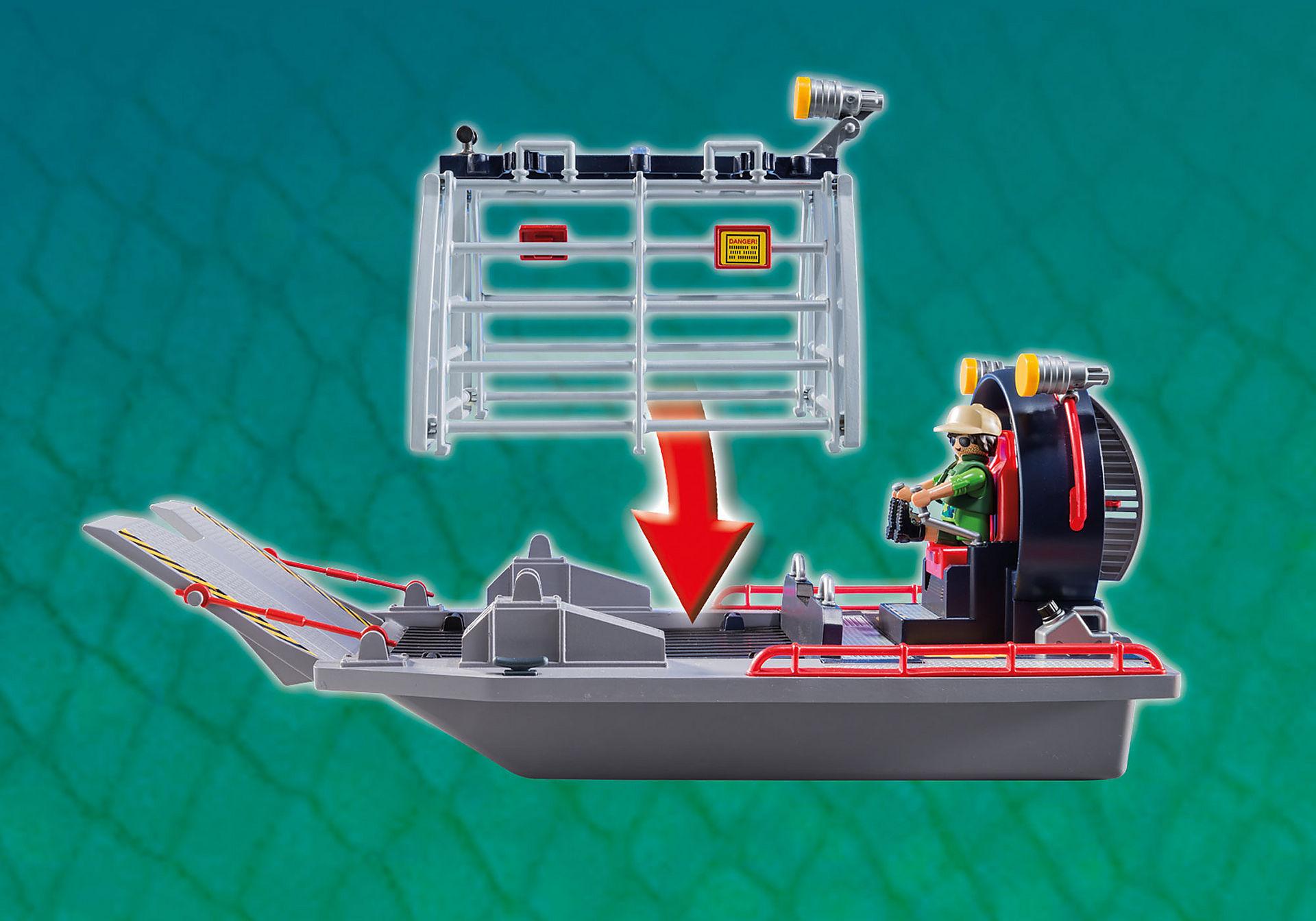 9433 Luchtkussenboot met dinokooi zoom image7