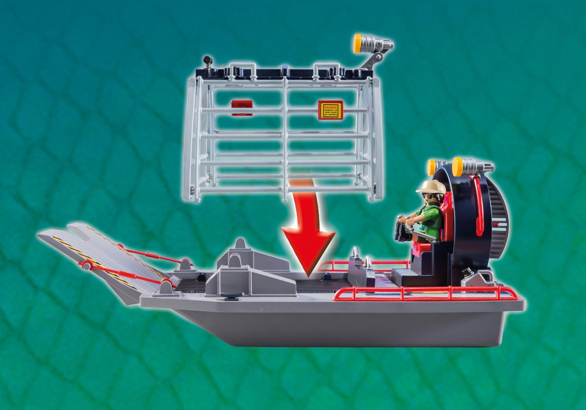 http://media.playmobil.com/i/playmobil/9433_product_extra3/Propellerboot mit Dinokäfig