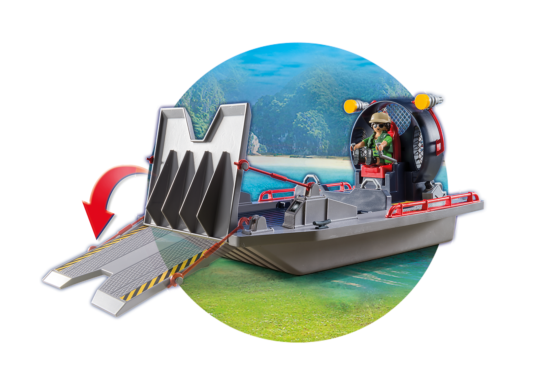 http://media.playmobil.com/i/playmobil/9433_product_extra4/Enemy Airboat with Raptors