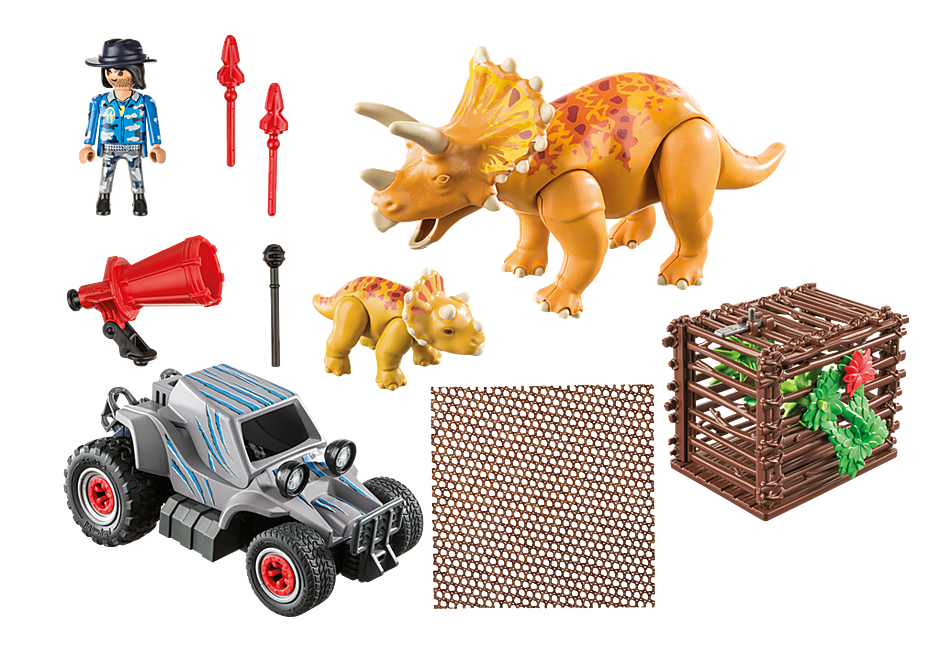 9434 Carro com Triceratops detail image 4