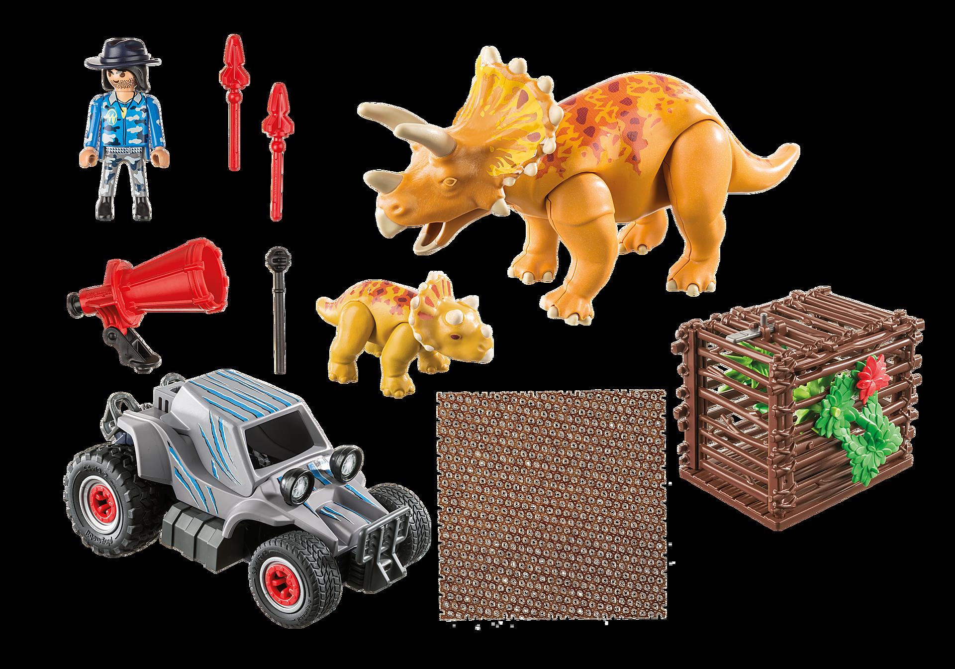 9434 Carro com Triceratops zoom image4