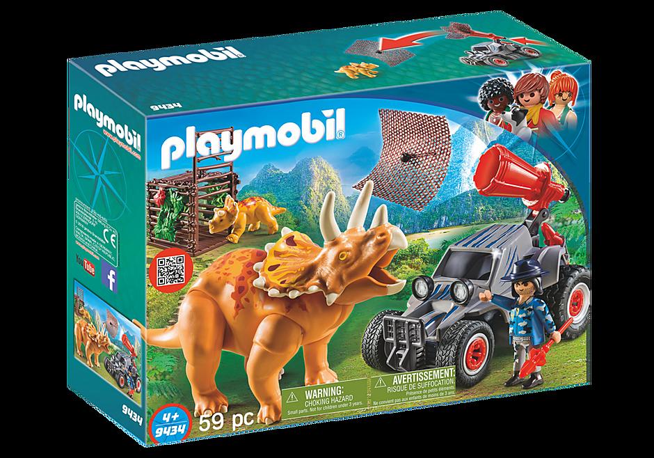 http://media.playmobil.com/i/playmobil/9434_product_box_front/Όχημα λαθροκυνηγών και οικογένεια Τρικεράτωψ