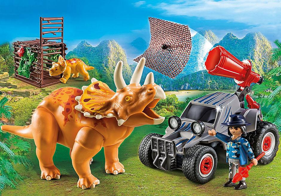 9434 Carro com Triceratops detail image 1