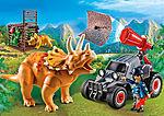 Coche con Triceratops