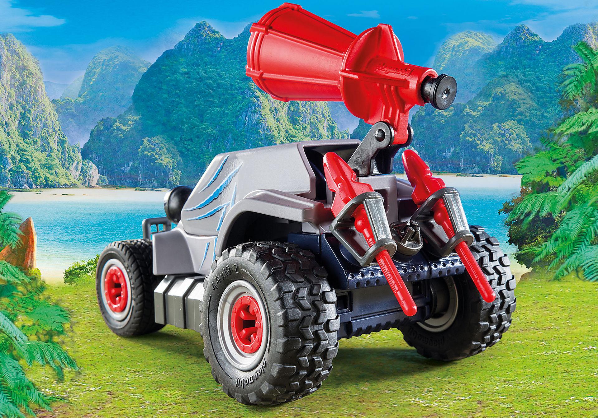 http://media.playmobil.com/i/playmobil/9434_product_extra1/Όχημα λαθροκυνηγών και οικογένεια Τρικεράτωψ