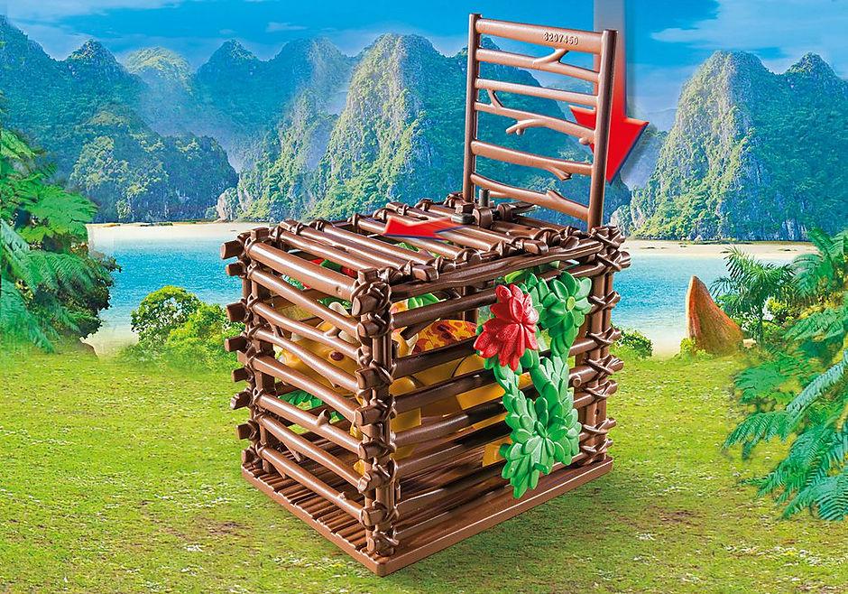 http://media.playmobil.com/i/playmobil/9434_product_extra2/Όχημα λαθροκυνηγών και οικογένεια Τρικεράτωψ