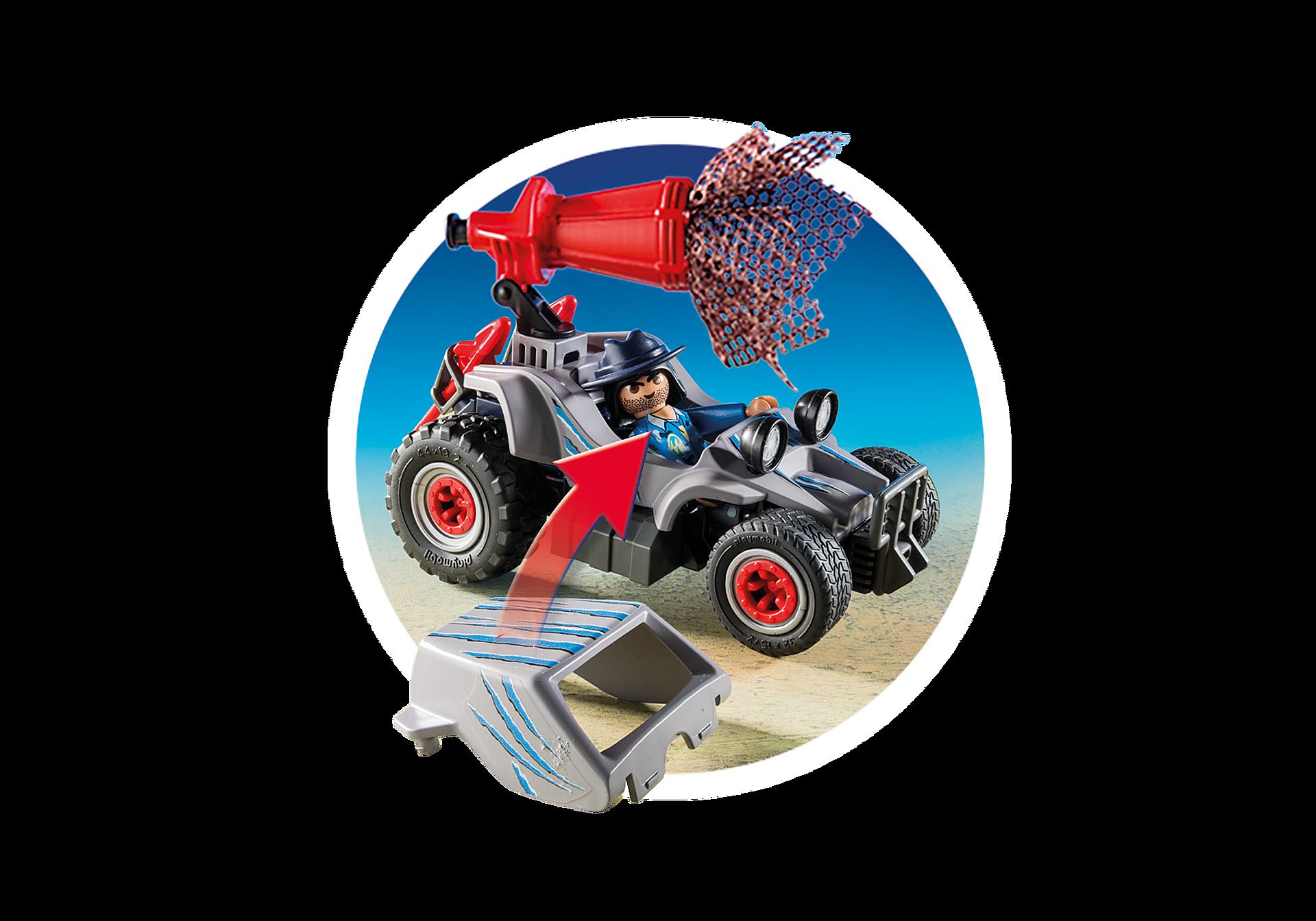 http://media.playmobil.com/i/playmobil/9434_product_extra3/Όχημα λαθροκυνηγών και οικογένεια Τρικεράτωψ
