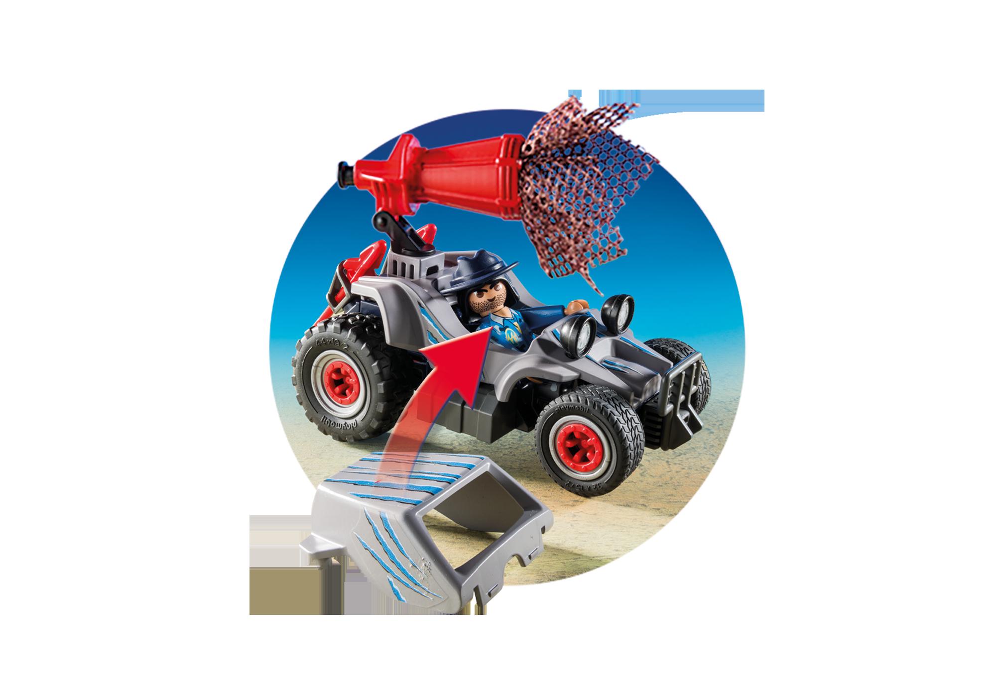 http://media.playmobil.com/i/playmobil/9434_product_extra3/Samochód terenowy z działającą wyrzutnią sieci