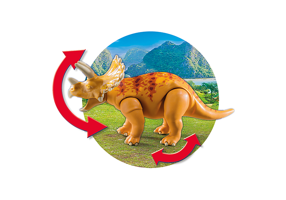 9434 Coche con Triceratops detail image 8