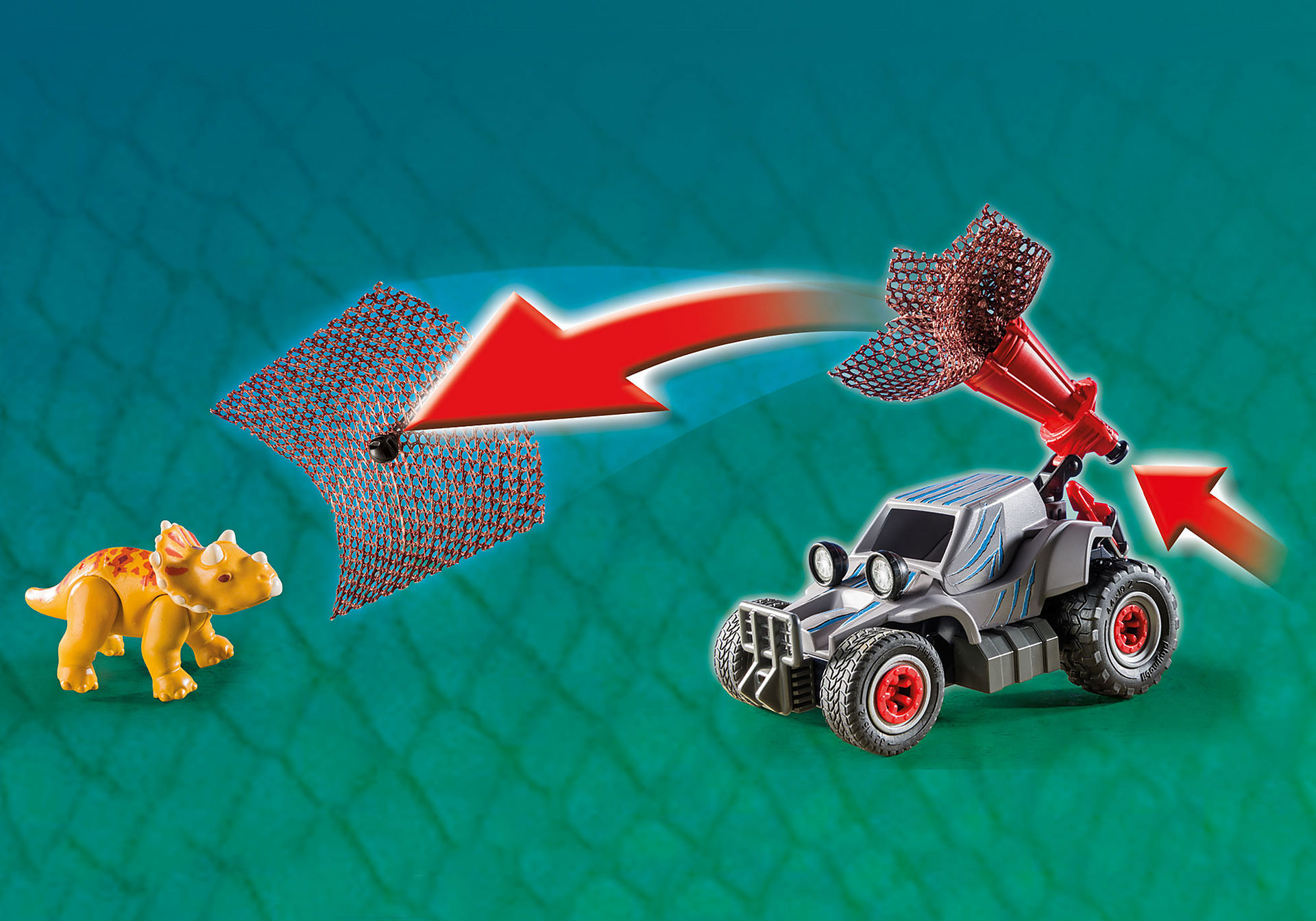 9434 Carro com Triceratops zoom image10