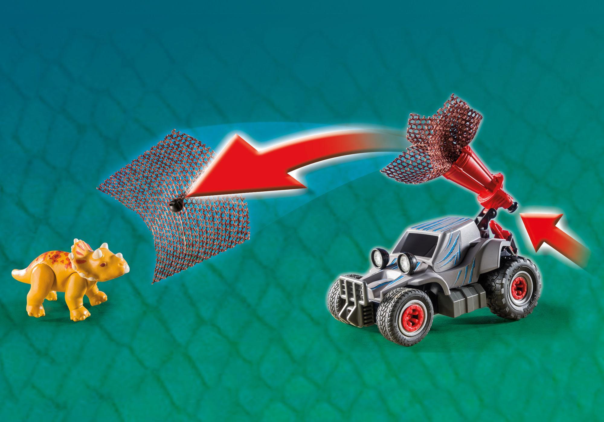 http://media.playmobil.com/i/playmobil/9434_product_extra6/Samochód terenowy z działającą wyrzutnią sieci