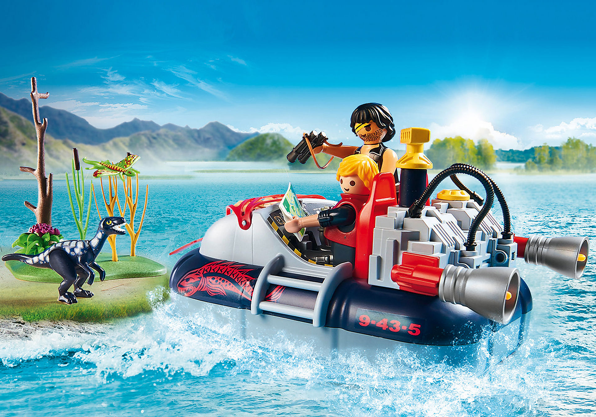 http://media.playmobil.com/i/playmobil/9435_product_extra3/Dino Hovercraft with Underwater Motor