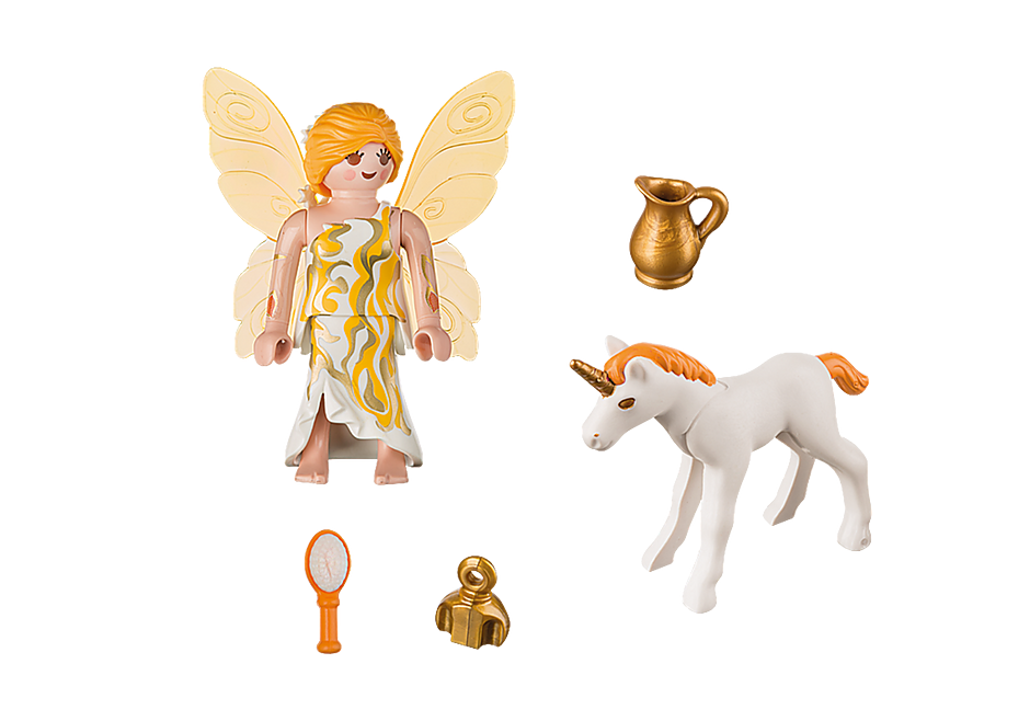 9438 Fée et bébé licorne  detail image 4