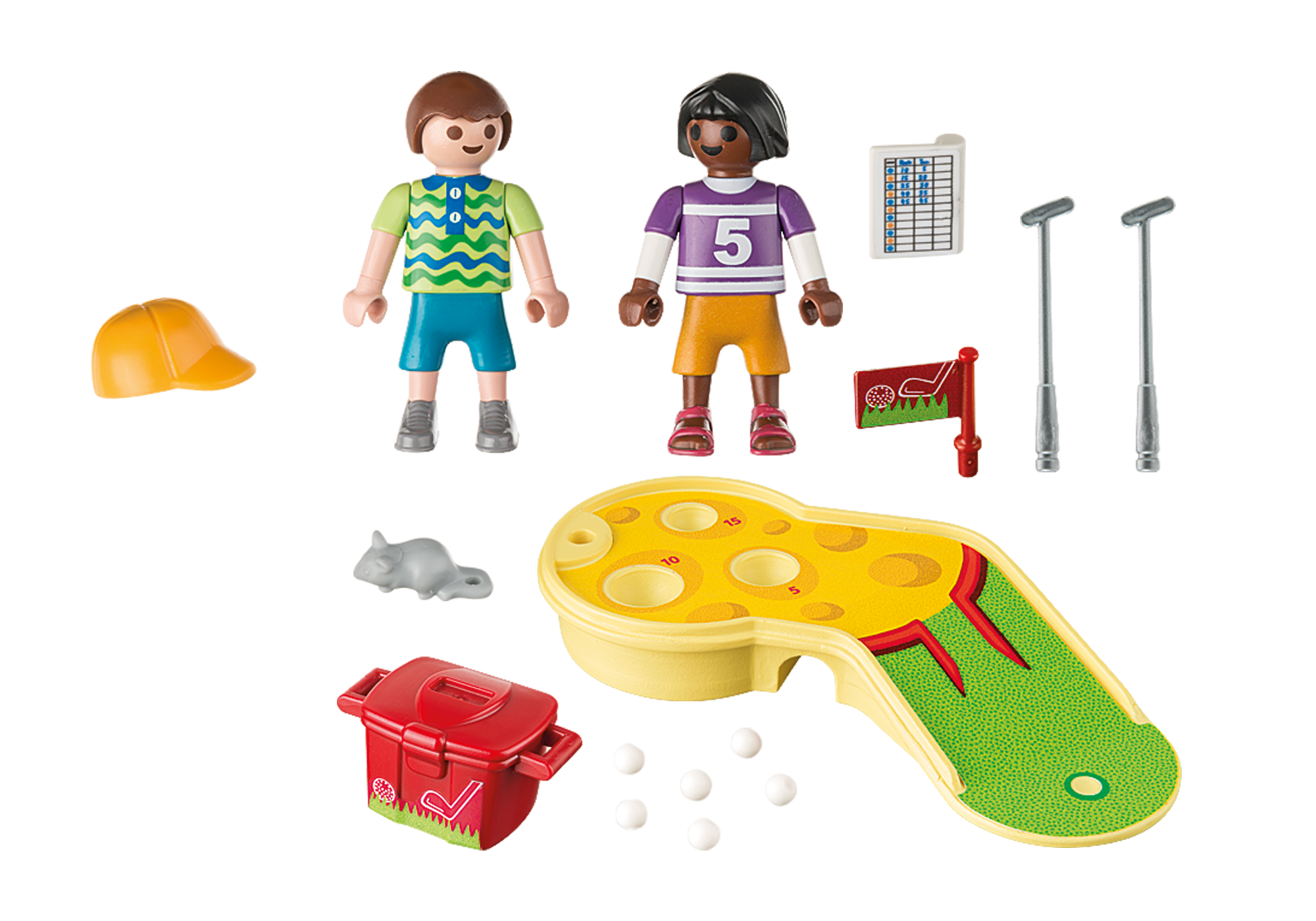 http://media.playmobil.com/i/playmobil/9439_product_box_back/Bambini al minigolf