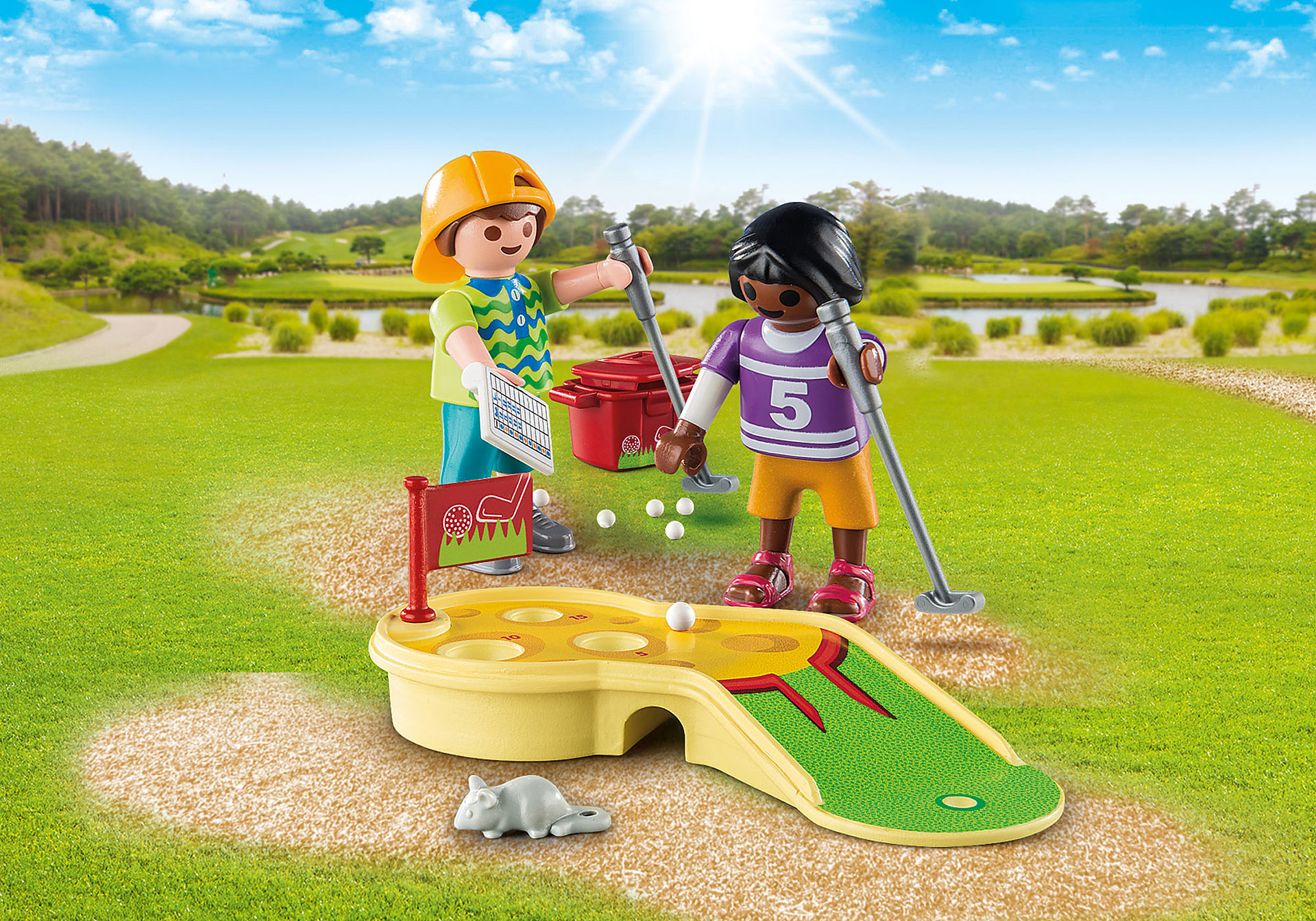 http://media.playmobil.com/i/playmobil/9439_product_detail/Children Minigolfing