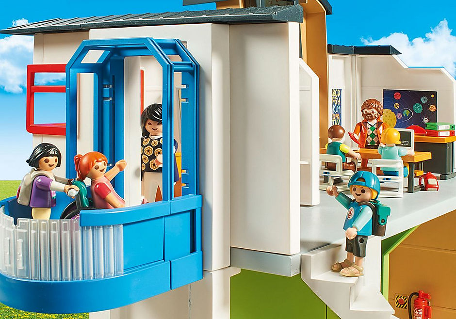 http://media.playmobil.com/i/playmobil/9453_product_extra5/Επιπλωμένο Σχολικό Κτίριο