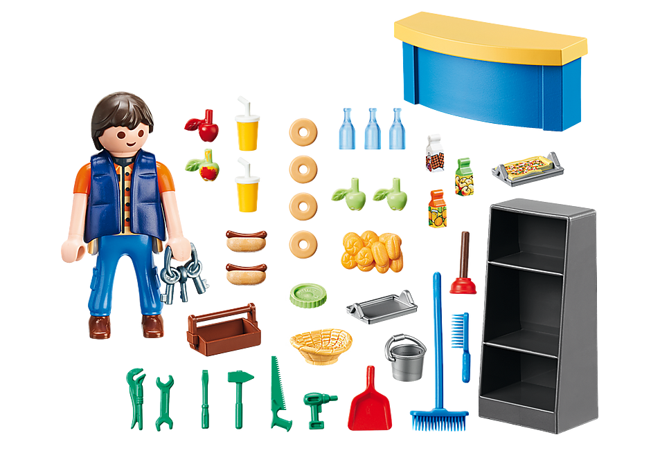 http://media.playmobil.com/i/playmobil/9457_product_box_back/Schoolconciërge met kiosk