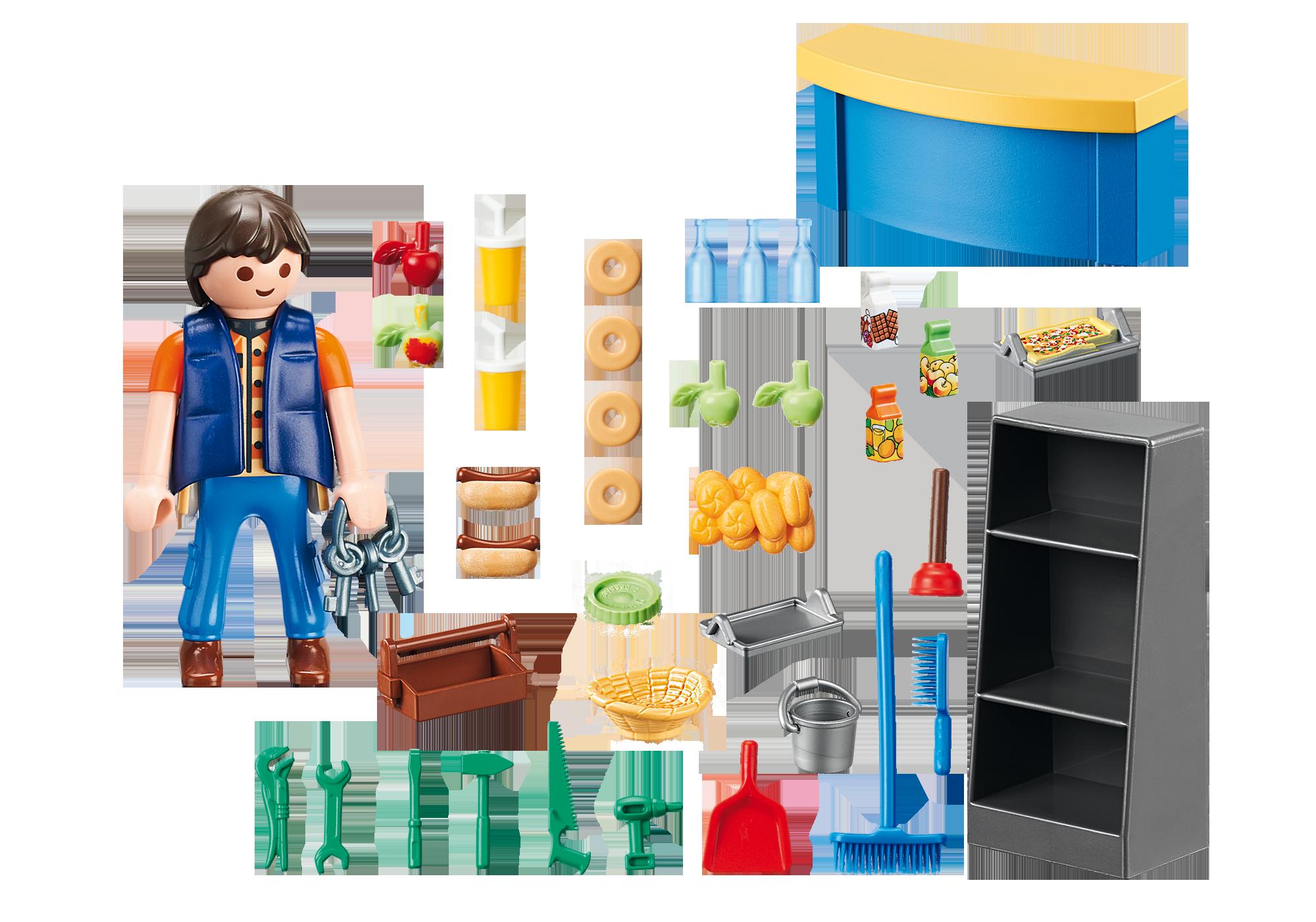 http://media.playmobil.com/i/playmobil/9457_product_box_back/Schoolconciërge met kiosk