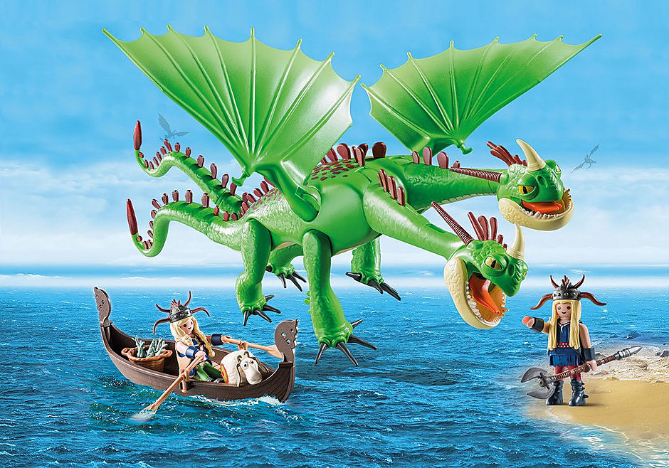 9458 Cabeçaquente e Cabeçadura com Dragão 2 Cabeças detail image 1