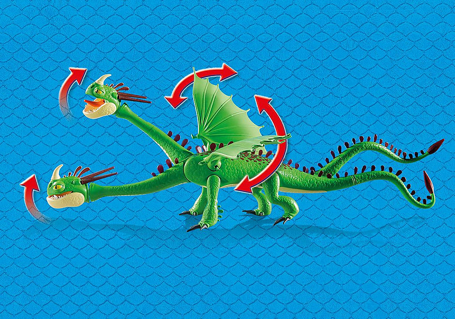 9458 Cabeçaquente e Cabeçadura com Dragão 2 Cabeças detail image 5