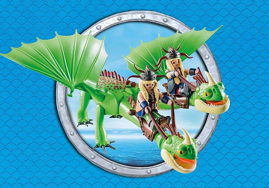 http://media.playmobil.com/i/playmobil/9458_product_extra5/Ο Πέτρας και η Πέτρα με τον δικέφαλο δράκο Ρέψιμο & Αναγούλα