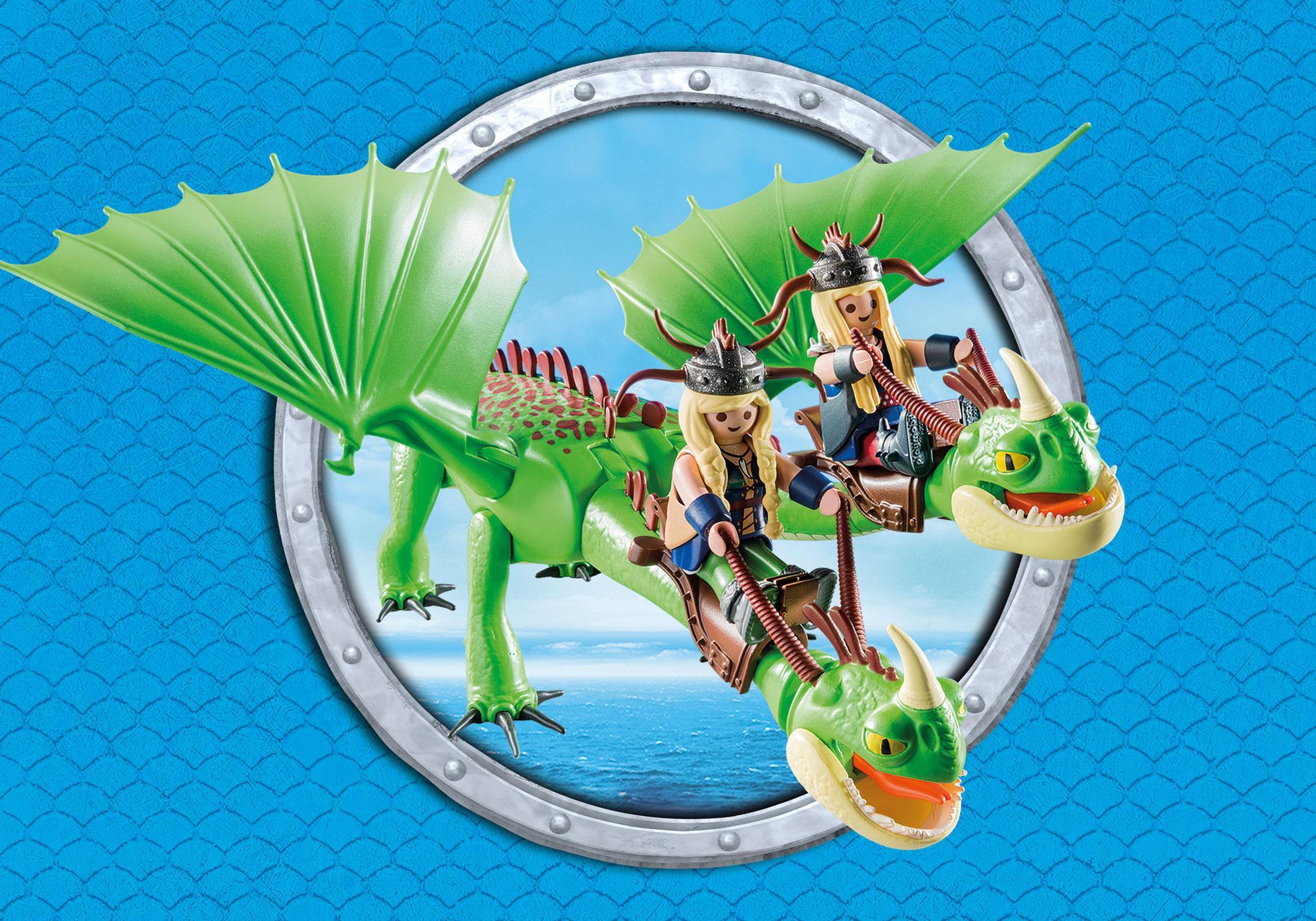 http://media.playmobil.com/i/playmobil/9458_product_extra5/Cabeçaquente e Cabeçadura com Dragão 2 Cabeças
