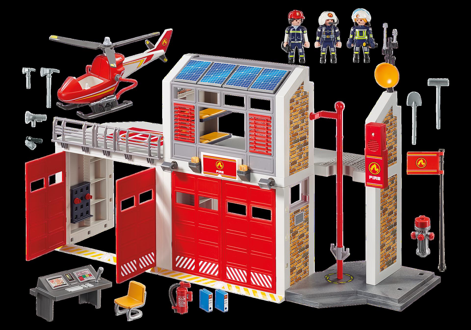 9462 Caserne de pompiers avec hélicoptère  zoom image4