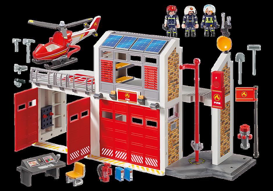 9462 Caserne de pompiers avec hélicoptère  detail image 4