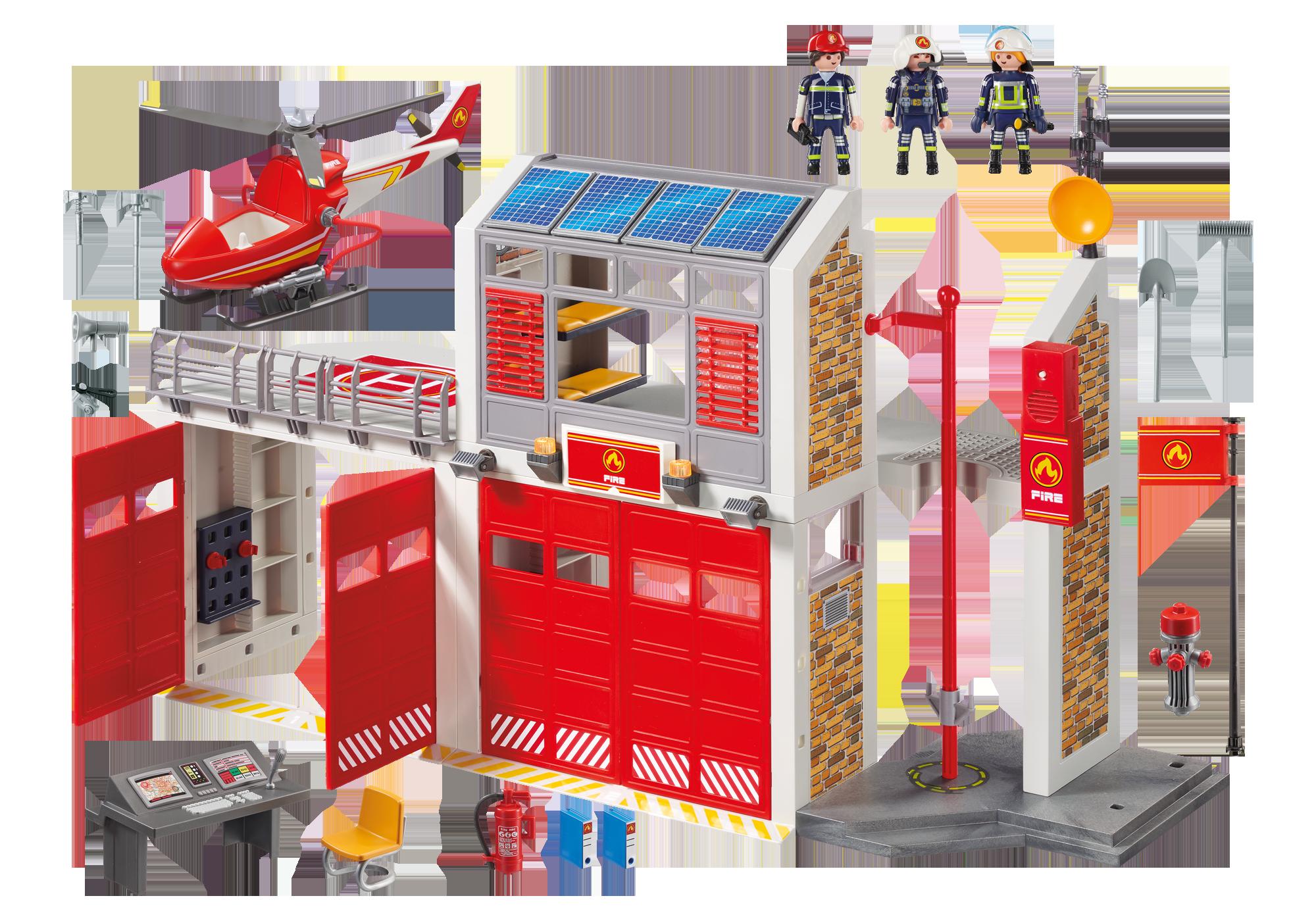 http://media.playmobil.com/i/playmobil/9462_product_box_back/Duża remiza strażacka