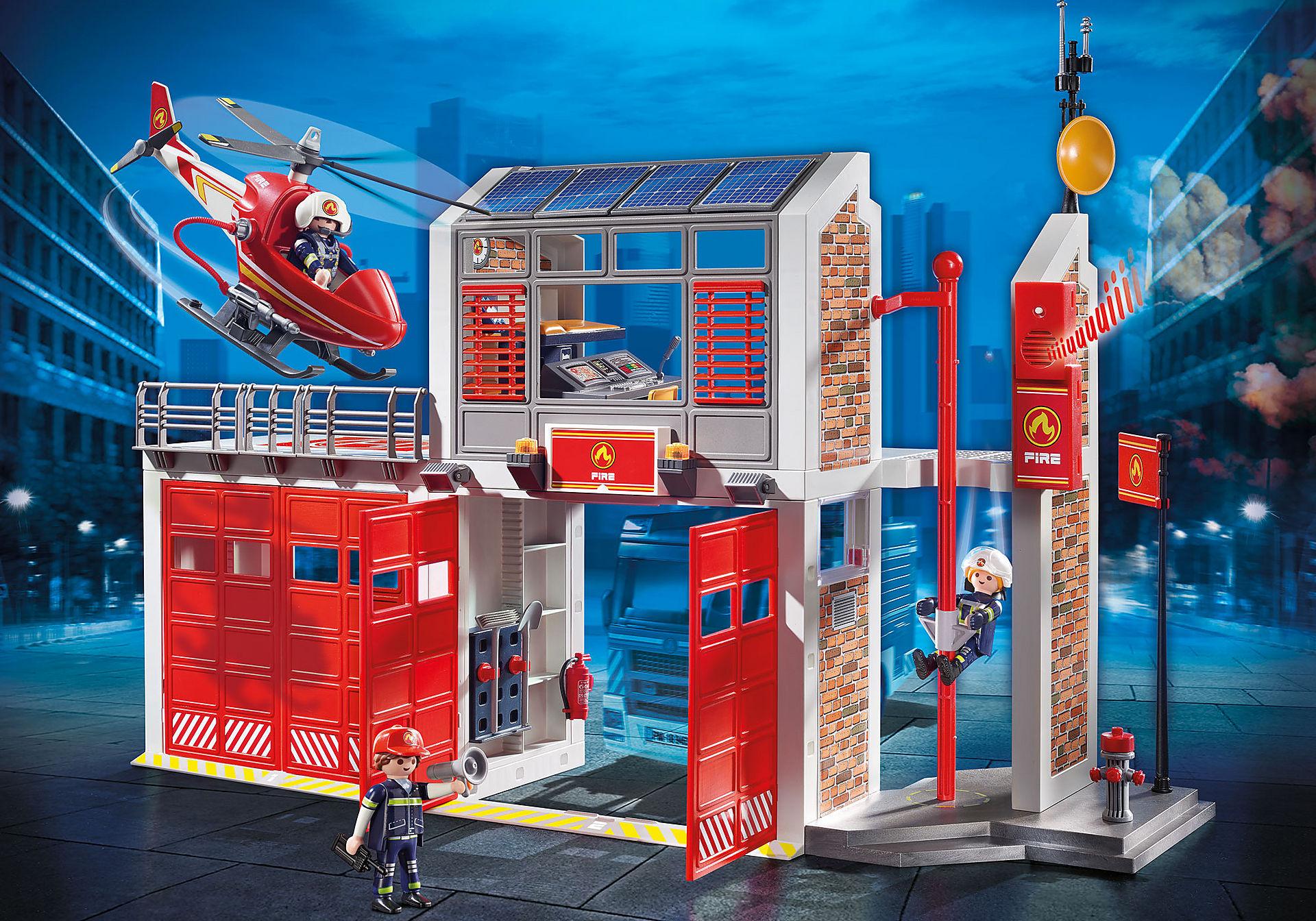 9462 Caserne de pompiers avec hélicoptère  zoom image1
