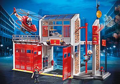 9462 Caserne de pompiers avec hélicoptère