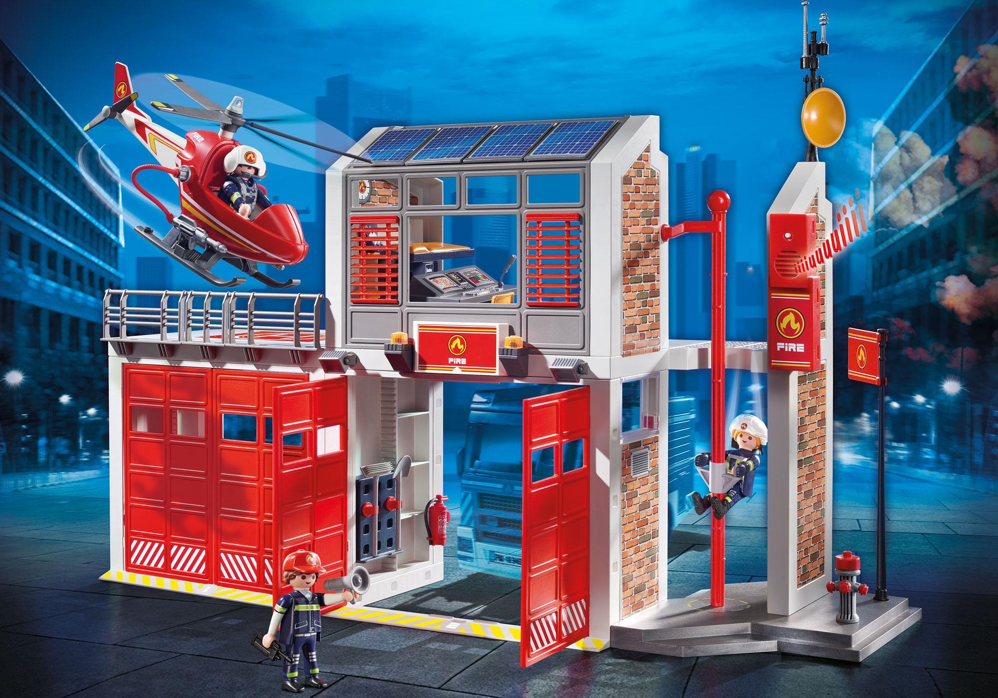 9462_product_detail/Grote brandweerkazerne met helicopter
